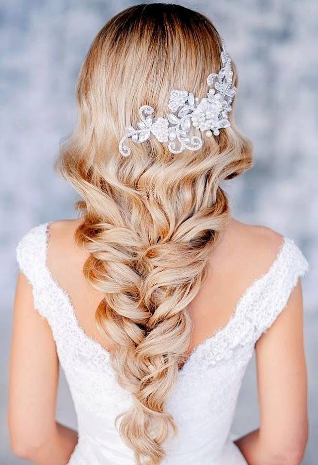 Novas ideias de noivas Vintage penteado 2018