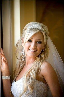 Penteados de casamento lindo com tiara