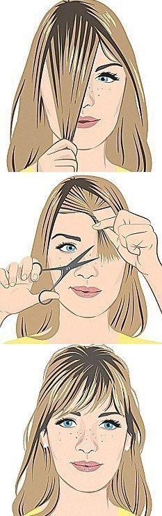 Algumas técnicas e maneira de cortar sua própria franja