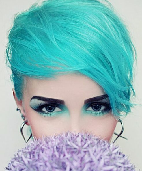 cor do cabelo da cerceta da lagoa