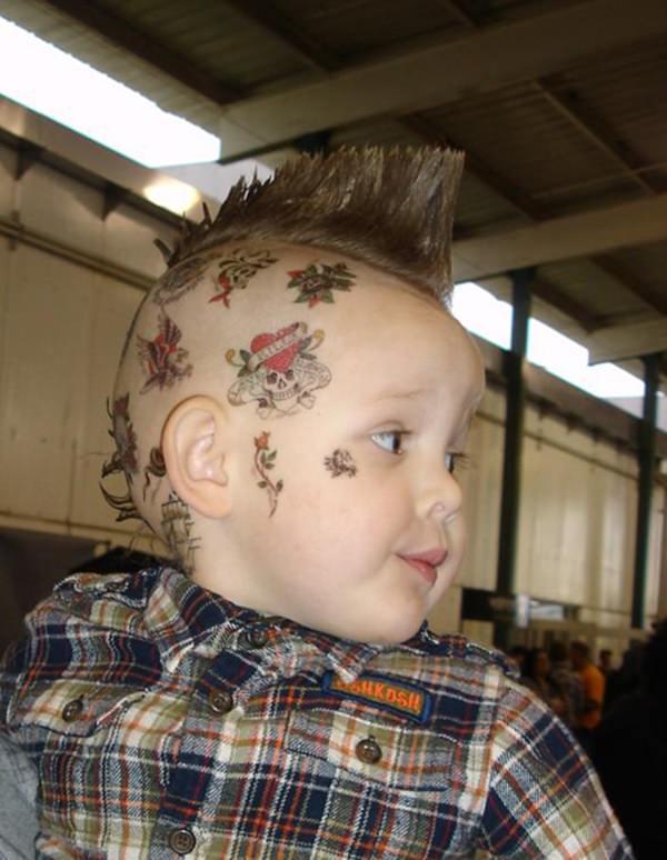 46 Edgy Kids Mohawk Ideias que eles vão amar