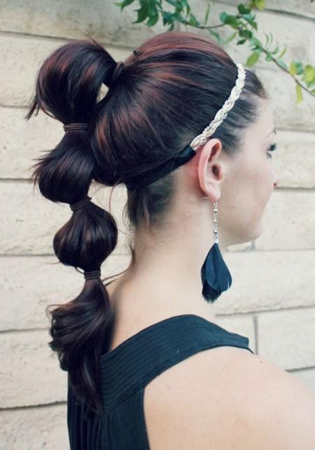 Idéias charmosas de 5 minutos de penteado fácil para meninas