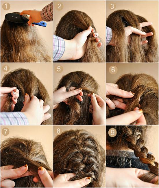 Simples DIY Trançado, Bun & Puff Penteados Tutorial Pictorial para Meninas