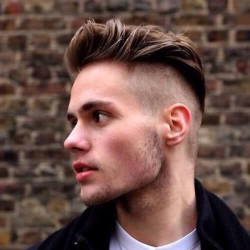 Penteados Shaved Mohawk para homens