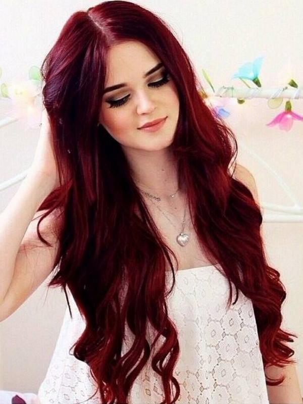 Tons mais populares da cor do cabelo vermelho