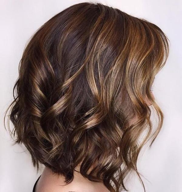 58 dos mais impressionantes destaques para cabelos castanhos