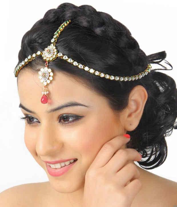 Jóia nupcial e penteados usando Matha Pati
