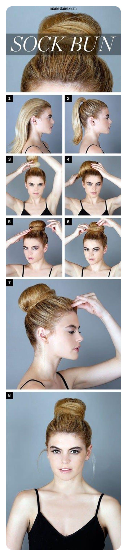 60 impressionantes penteados de coque de meia com tutorial