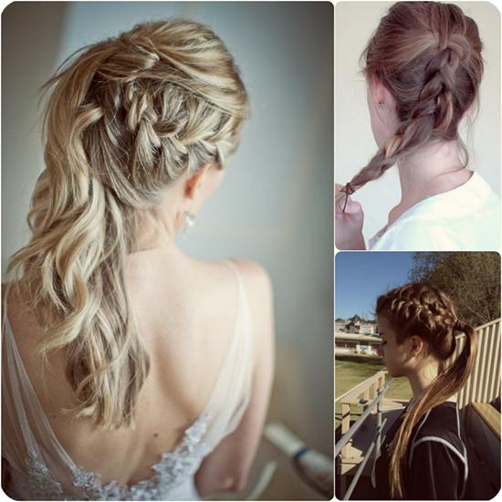 Penteado cativante para cabelos de comprimento médio a longo