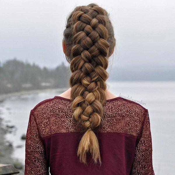 Penteados trançados emocionantes diferentes olhar de inverno