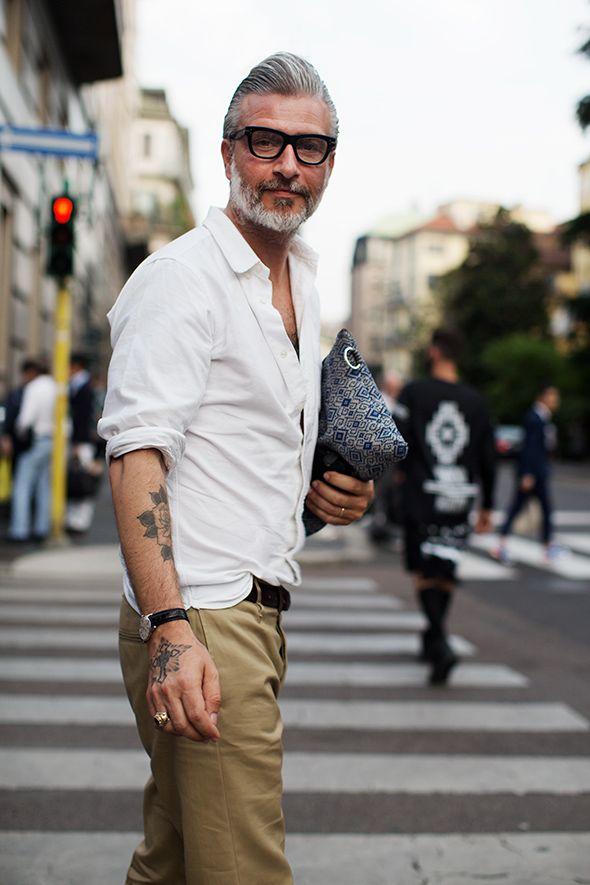 incrível estilo de rua prata cor de cabelo para homens (8)