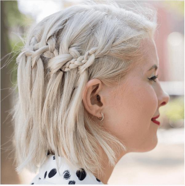 Idéias de penteado trançado cativante para meninas com cabelo curto
