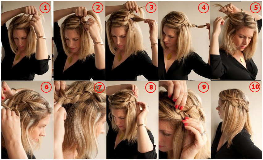 Top 7 excepcionais penteados trançados franceses com tutoriais