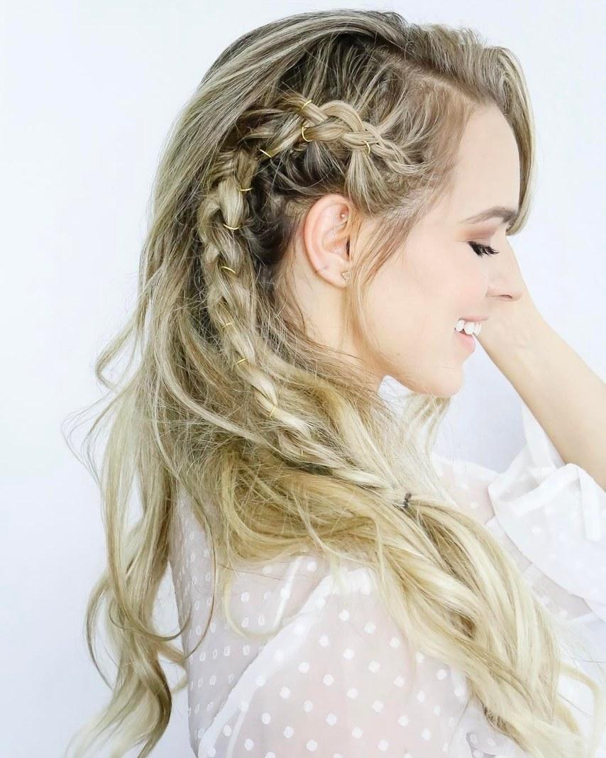 Idéias de penteado de casamento trançado incrível