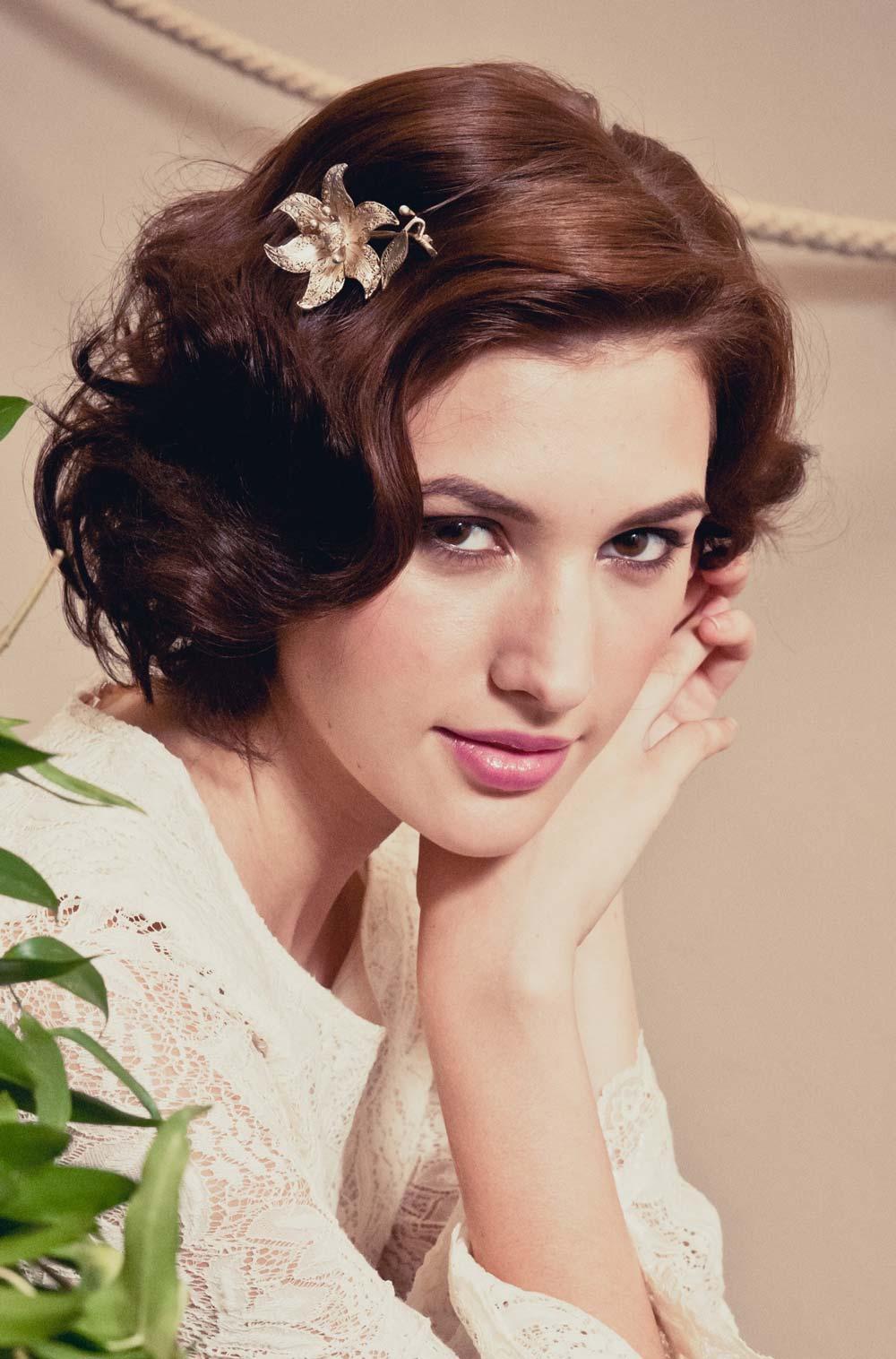 Penteados de casamento mais inspirador e fácil com encantadores headpieces