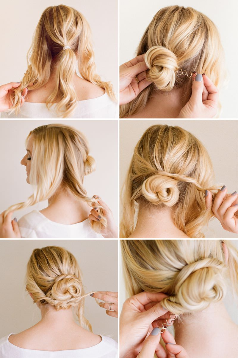 Penteados de casamento surpreendentes para cabelos de tiro e aparência formal