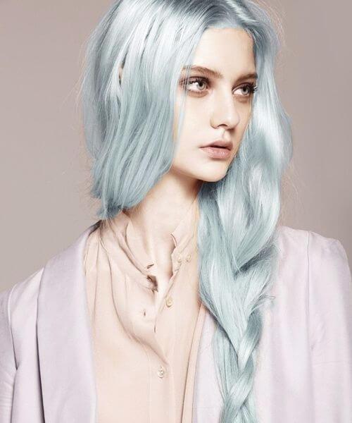 cabelo de sereia de porcelana