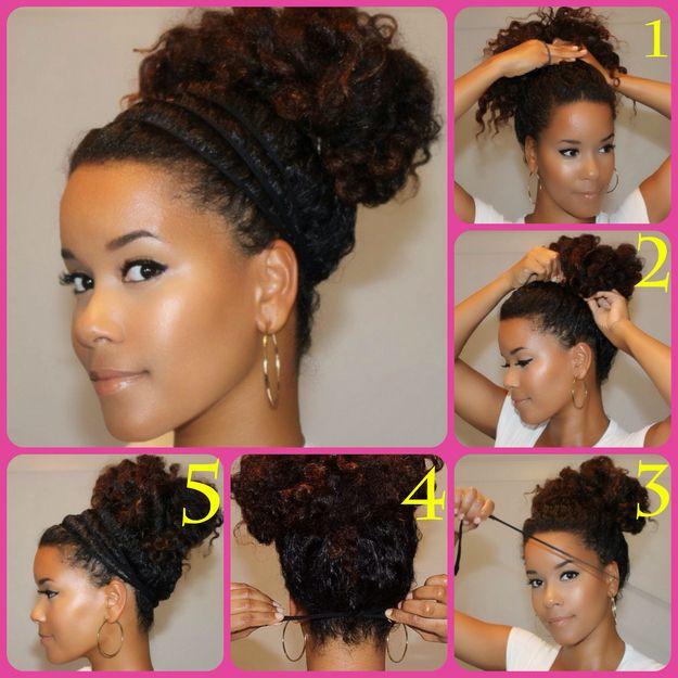 Várias maneiras de pentear cabelos cacheados espessos naturais de formas modernas
