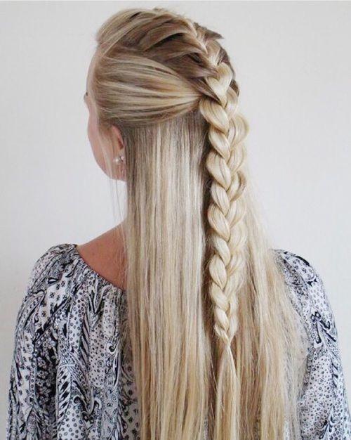 Penteados à moda diferentes com cabelos retos
