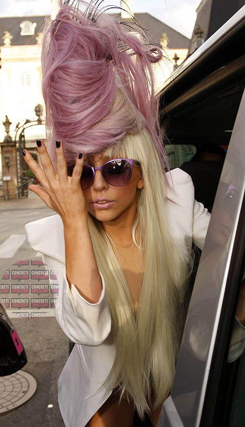 Penteados exclusivos por Lady Gaga