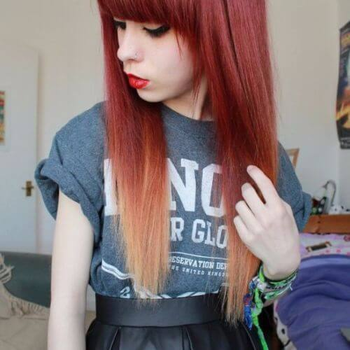 60 penteados emo criativos para meninas