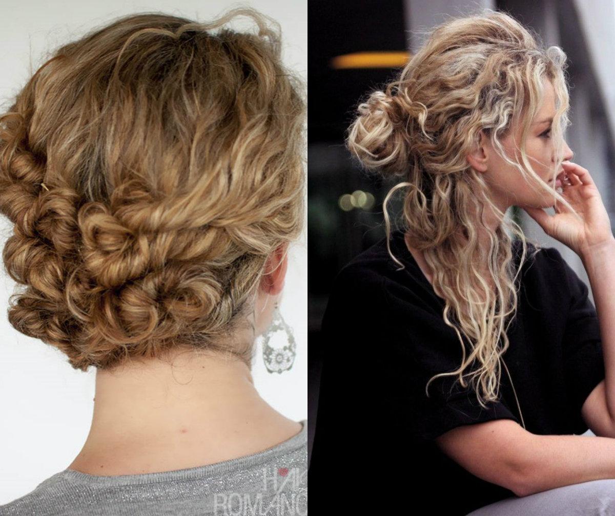Chic volumoso grosso cachos diferentes idéias penteados para meninas