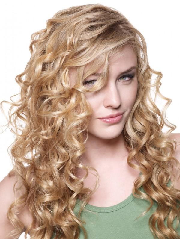 Ravishing estilo reto e encaracolado Mix Hair Style para meninas