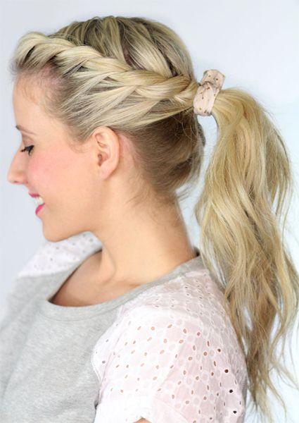 Vários estilos de penteados da moda e mais recente rabo de cavalo para meninas: