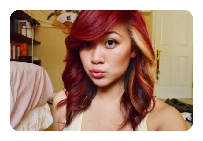 72 impressionantes Idéias de cor de cabelo vermelho com destaques