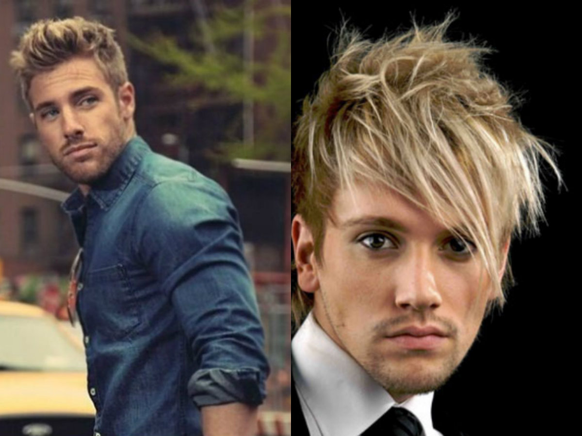 Elegante novo penteado loiro para meninos: