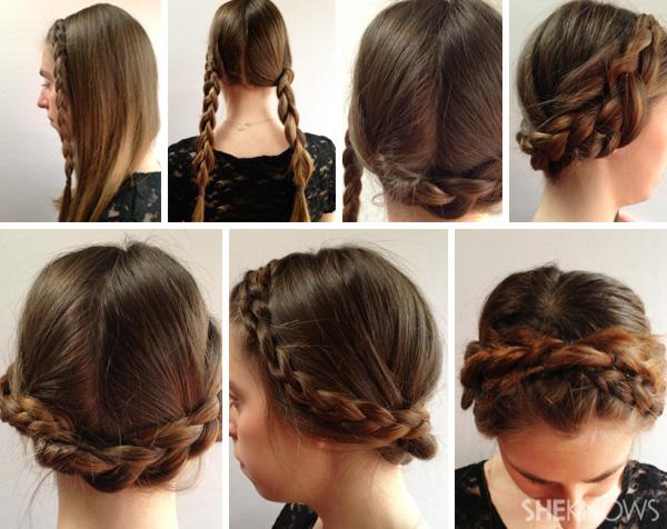 Fotos passo a passo de idéias para trançar seus próprios cabelos para iniciantes