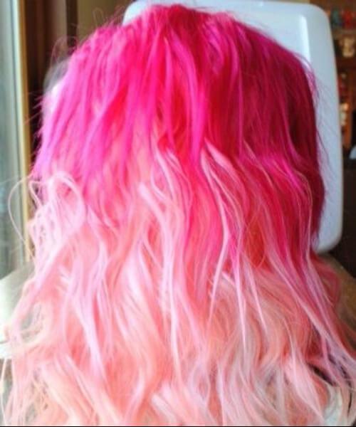 cabelo de sereia rosa gradiente