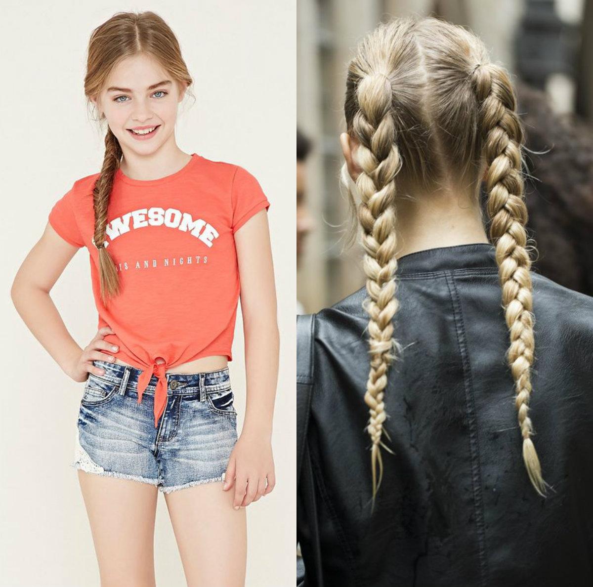 Penteados da moda para adolescentes no reino da moda