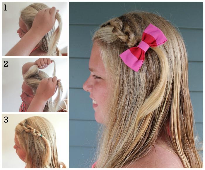 Diferentes penteados rápidos e fáceis para as meninas