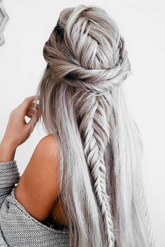Trançados na moda e Cornrows penteados para meninas