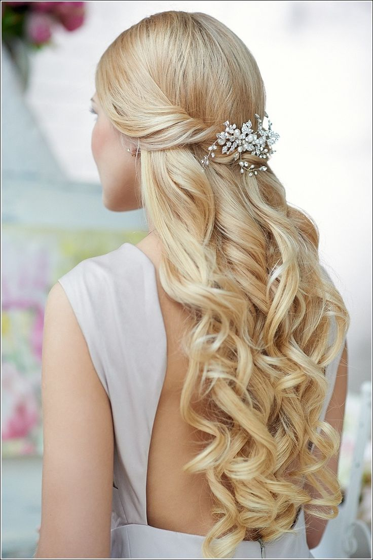 Mais recente estilo de cabelo longo casamento na moda