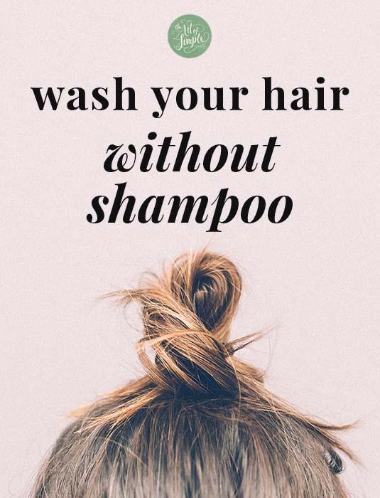 Top 3 maneiras de lavar seus cabelos sem xampu