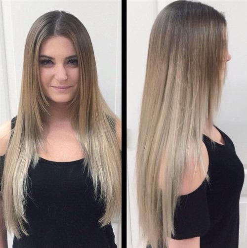 Algumas idéias sobre tendências de tintura de cabelo em corte de cabelo em camadas finas
