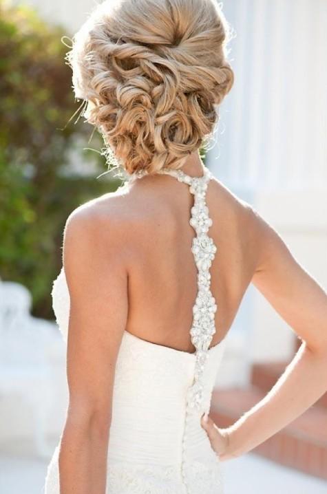 Cabelo Comprido Romântico Perfeito Up-dos para Casamento