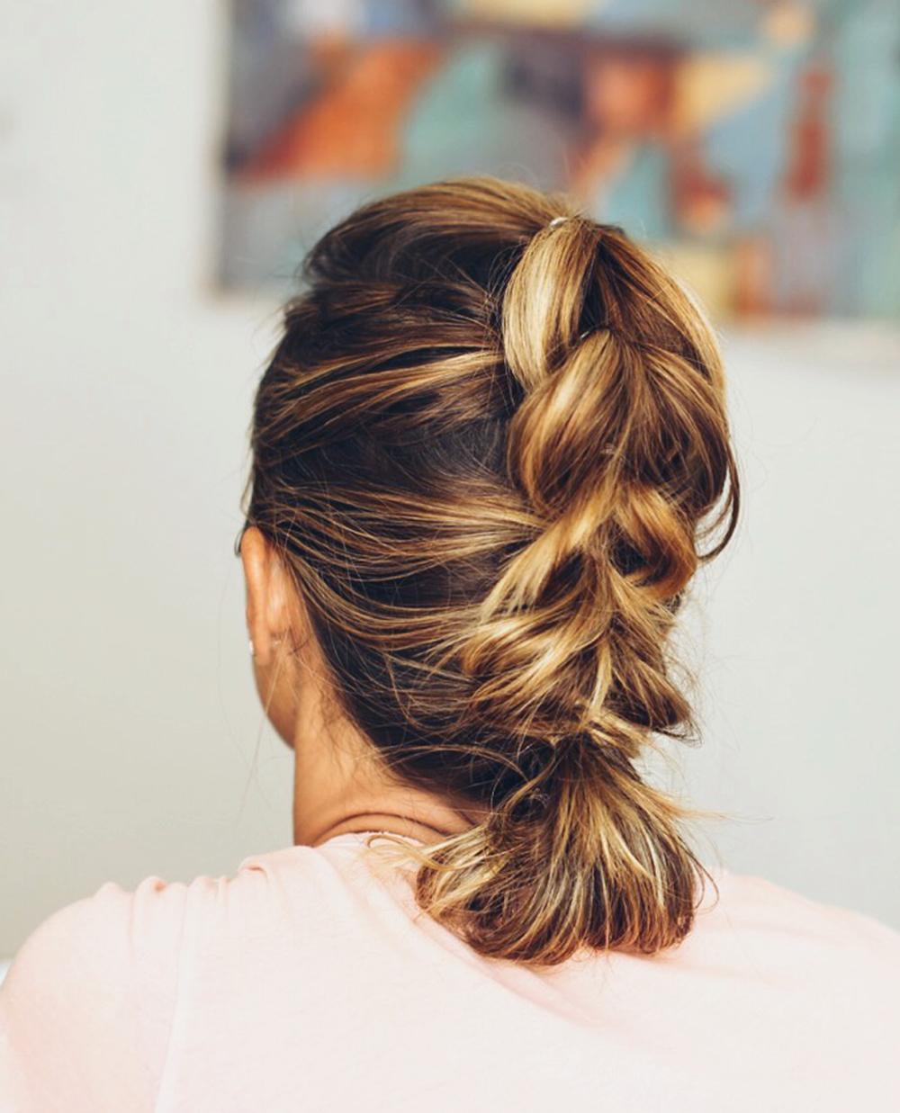 Ideias brilhantes de puxar penteados trançados