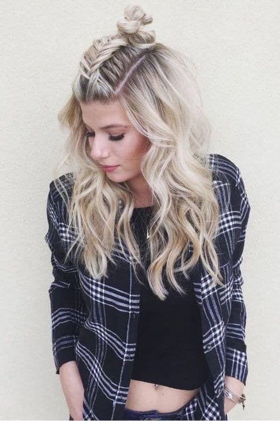 Idéias de penteado de inverno cativante para cabelos longos