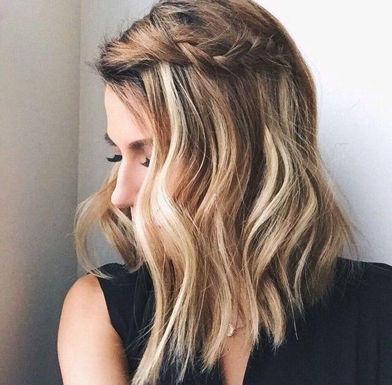 Famoso penteado de primavera de comprimento médio