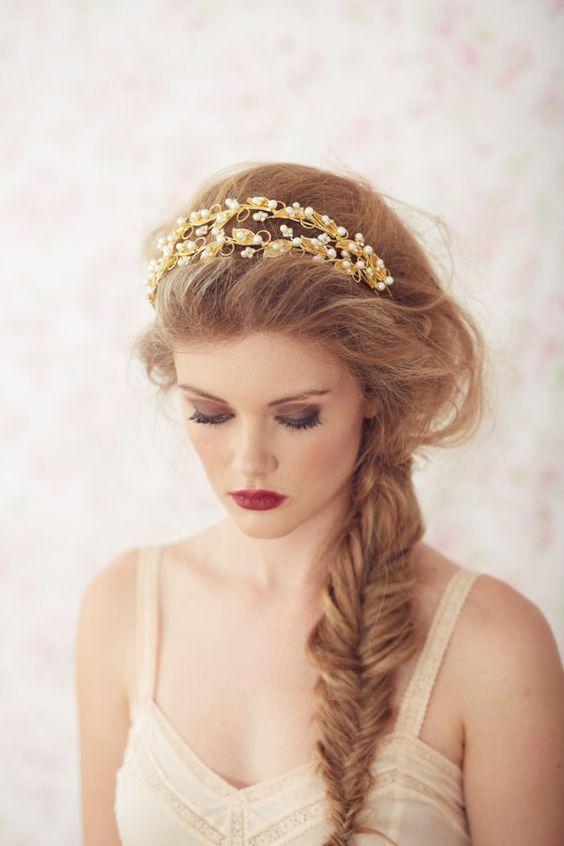Penteados trançados exclusivos com jóias de cabelo Buscar