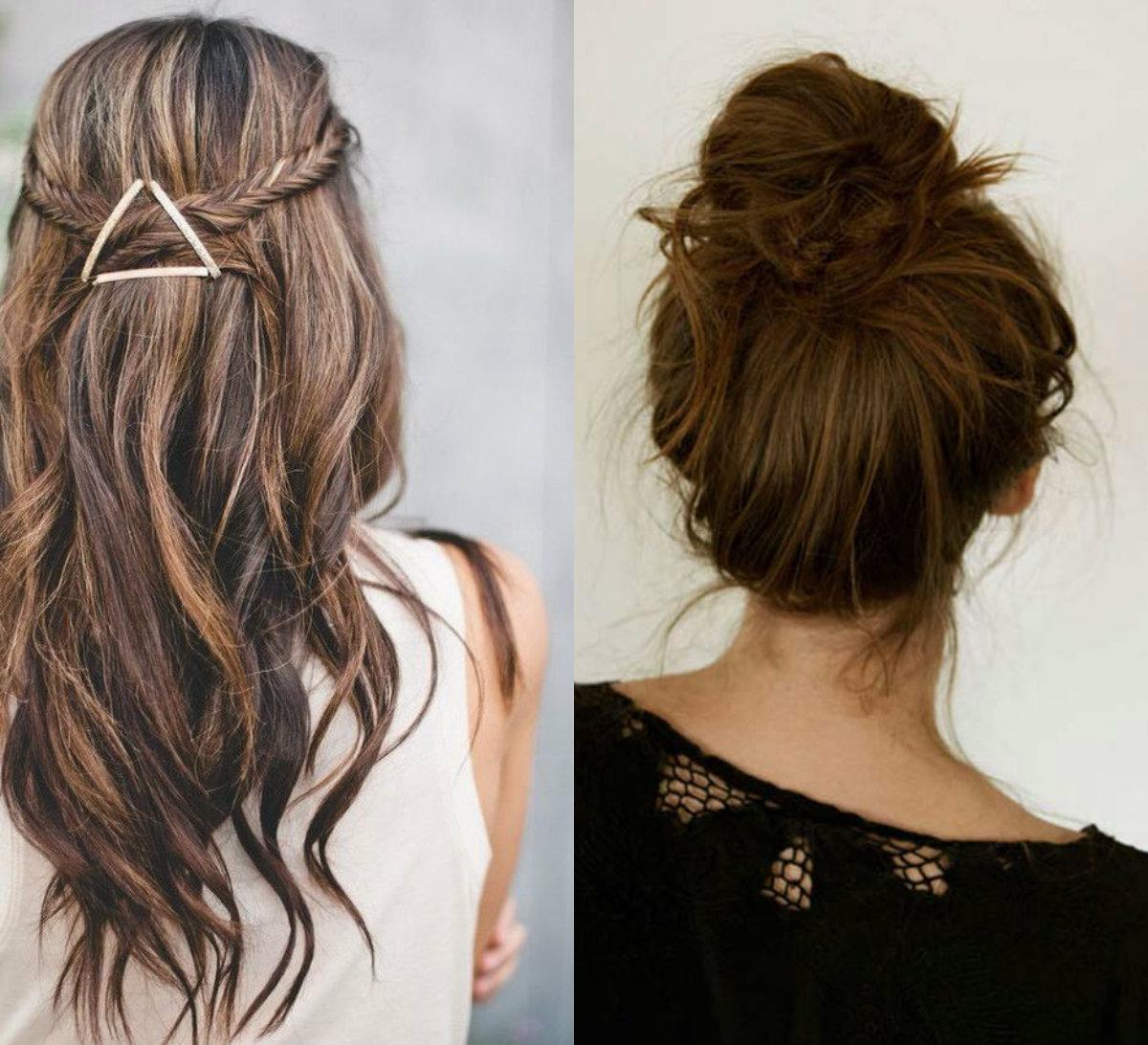 Penteado fácil e lindo pode fazer em casa