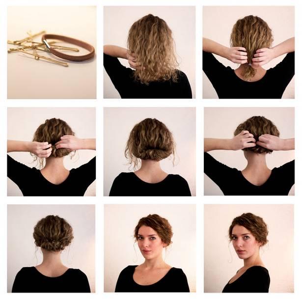 Idéias fáceis do penteado passo a passo para os cabelos curtos