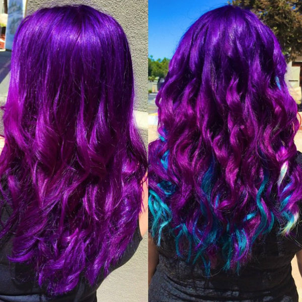 Idéias de cor de cabelo Ombre vermelho atraente para as meninas
