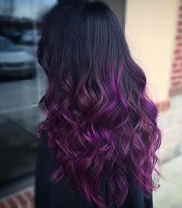 45+ Melhores penteados usando a sombra elegante de roxo