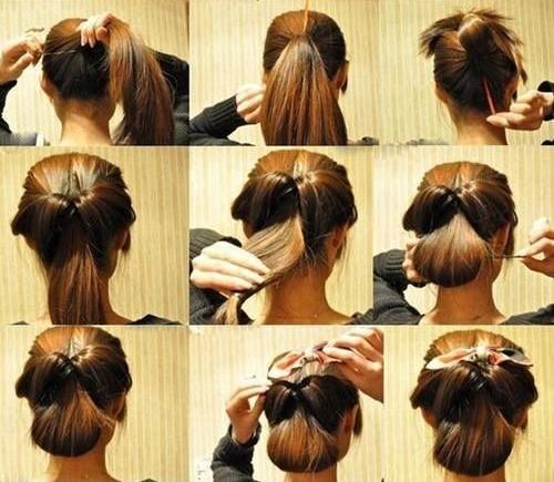 Passo a passo Fotos de Elegant Bow Hairstyles