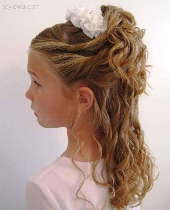 Penteados exclusivos para cima e metade para baixo para meninas