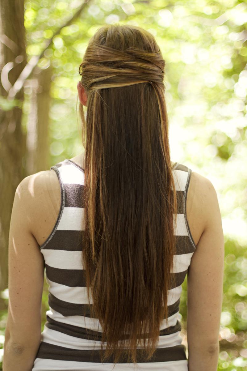 Idéias de penteados de festa mais simples e DIY para meninas